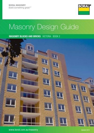 Masonry Design Guide   Boral