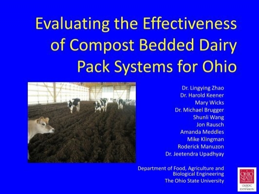 Evaluating the effectiveness of compost bedded dairy pack