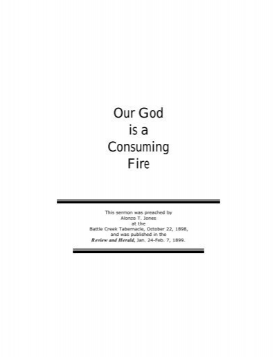 Our God Is A Consuming Fire Lancaster Seventh Day Adventist