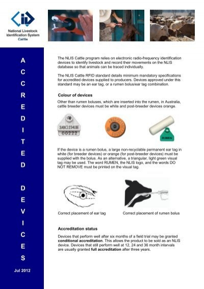 Accredited devices - Meat & Livestock Australia
