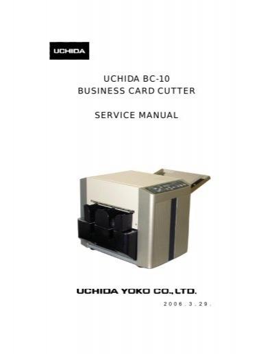Uchida bc 10 business card cutter service manual colourmoves