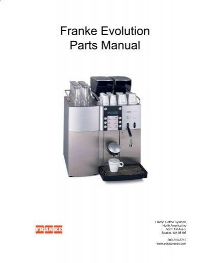 franke evolution parts manual laniel rh yumpu com Franke Evolution Service Parts Franke Evolution User Manual