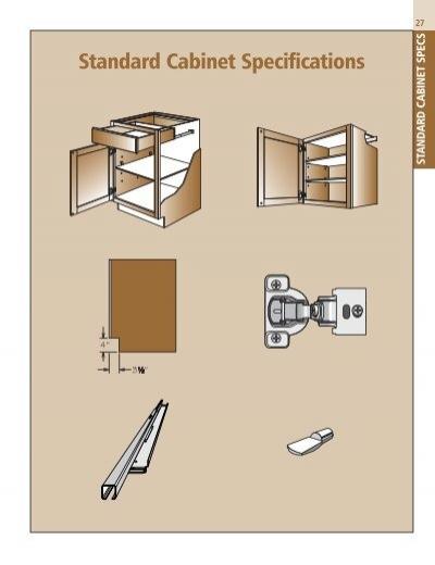 Pecs Standard Cabinet Specifications, Shenandoah Kitchen Cabinets Specs