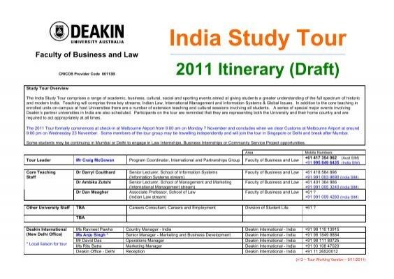 Deakin Law Study Tours
