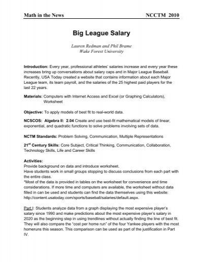 Big League Salary - Wake Forest University