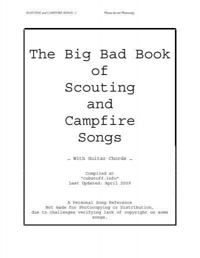 The Big Bad Book of Scouting and Campfire Songs - Horntip