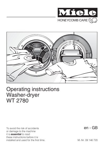 operating instructions washer dryer wt 2780 miele rh yumpu com miele washer dryer user manual Miele USA Washer Dryer