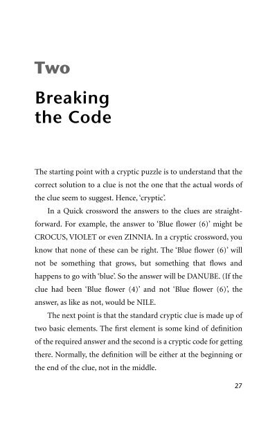 Two Breaking The Code The Book People