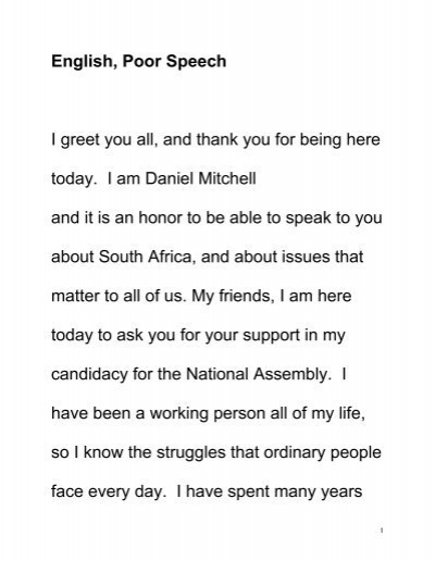 English poor speech i greet you all and thank you for being here english poor speech i greet you all and thank you for being here m4hsunfo