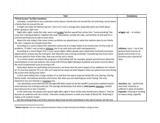 school essay example test question
