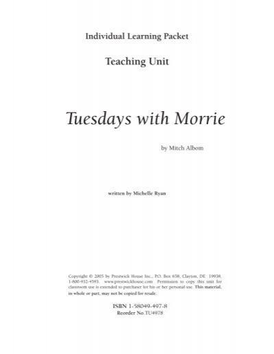 tuesdays with morrie pdf ksu