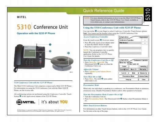 mitel 5235 ip phone manual