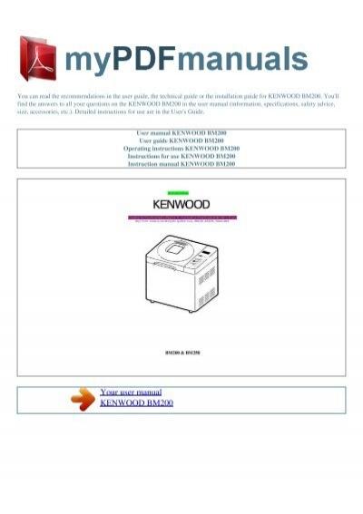 user manual kenwood bm200 my pdf manuals rh yumpu com kenwood bm200 manual pdf kenwood bm200 manual