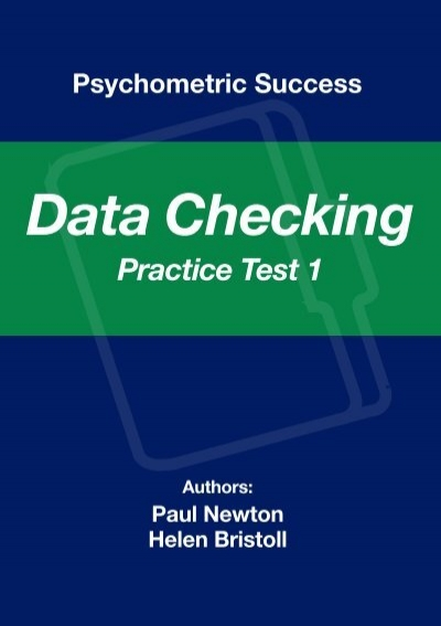 Sample data checking practice test 1 psychometric success fandeluxe Image collections