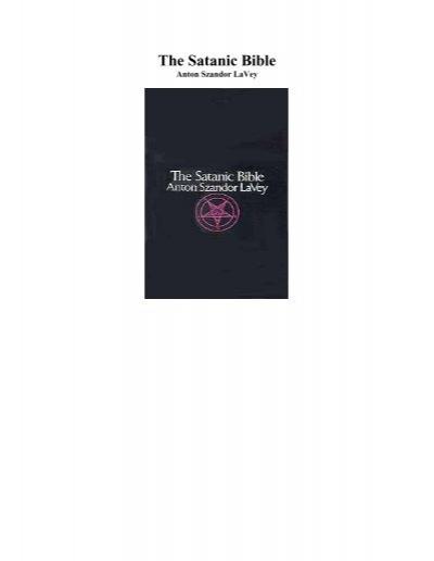 Anton Szandor Lavey The Satanic Bible Pdf Higher Intellect