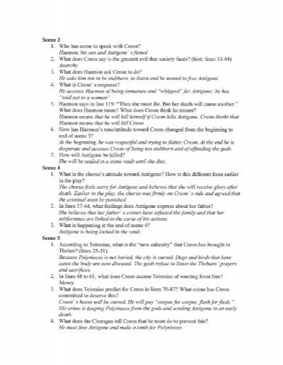 Printables Antigone Worksheet Answers antigone worksheet answers davezan scene 3 1 who has come t