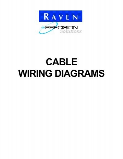 cable wiring diagrams raven rh yumpu com Raven Spray Controller 440 Raven 440 Problems
