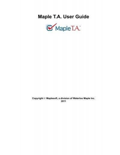 maple t a user guide maplesoft rh yumpu com