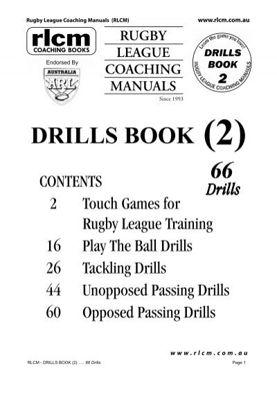 rlcm drills book 2 pdf country rugby league rh yumpu com The Healing Code Manual Front Office Manual
