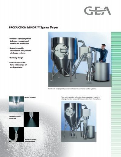Production Minor Spray Dryer Gea Niro Inc