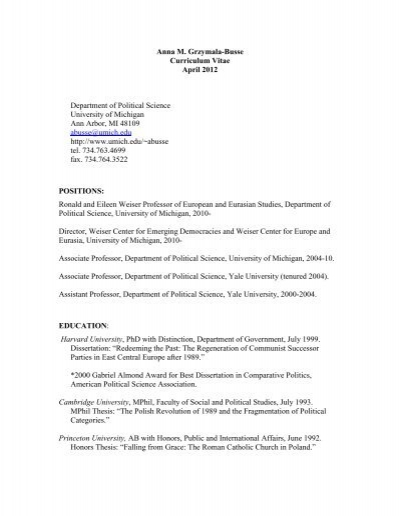 1992 cornell government honors thesis