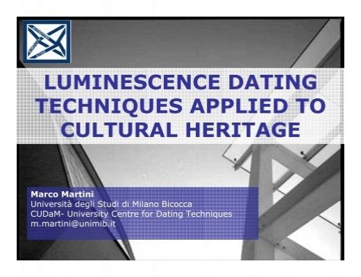 Luminescence dating english heritage sites