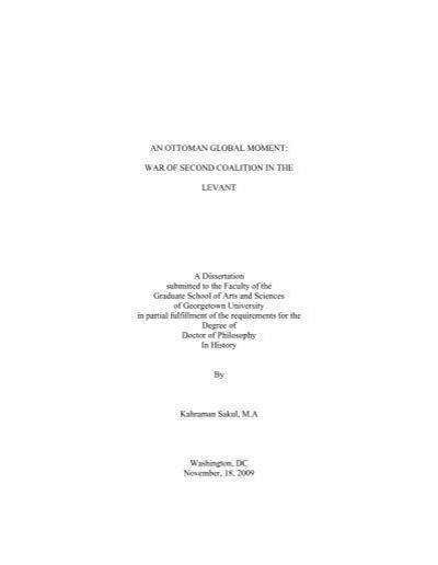 Georgetown university masters thesis