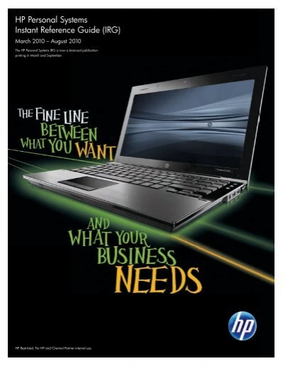Hp Personal Systems Instant Reference Guide The Ardent Group