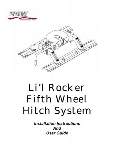 Li L Rocker Fifth Wheel Hitch System Rbw Industries Inc
