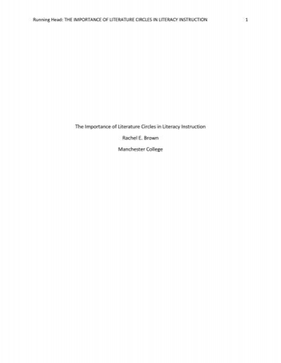 Research papers on literature