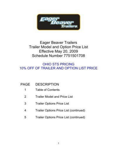 12 ton tag trailer decals eager beaver trailers eager beaver trailers trailer model and option price list effective
