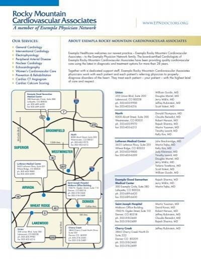 Rocky Mountain Cardiovascular Associates - Exempla Healthcare