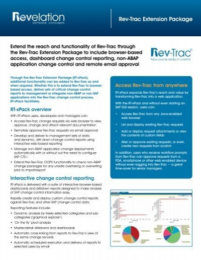 Rev-Trac Extension Package - Revelation Software Concepts