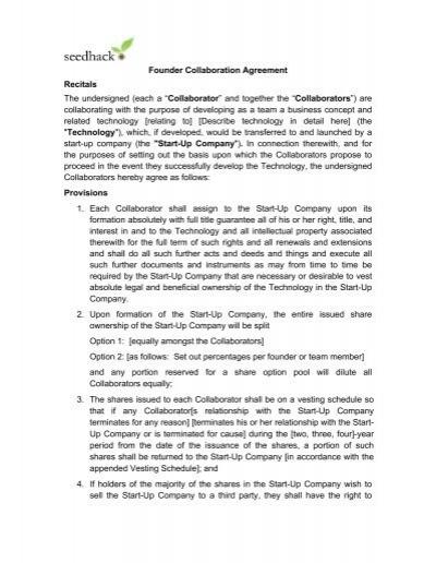 Collaboration Agreement V2 Clean Seedcamp
