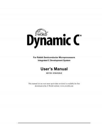 dynamic c users manual pdf rh yumpu com