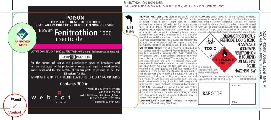 Rural Control Fenitrothion 1000 - Label