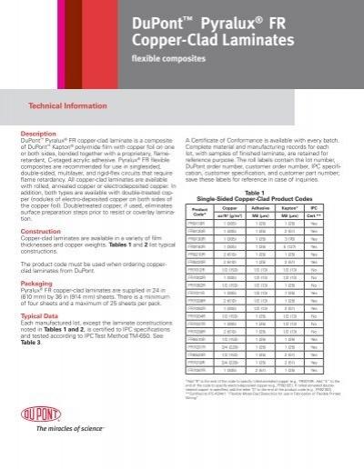 pyralux flexible composites technical manual