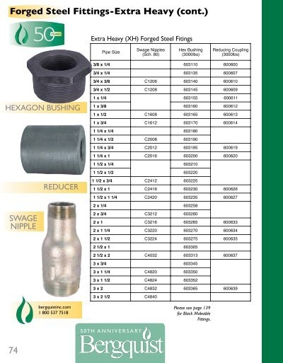 Forged steel fittings ext