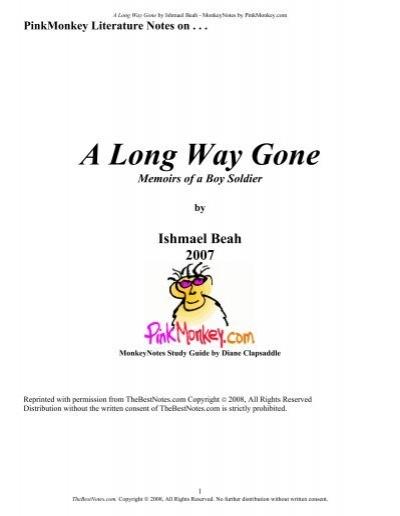 Pink Monkey A Long Way Gone.pdf - Home