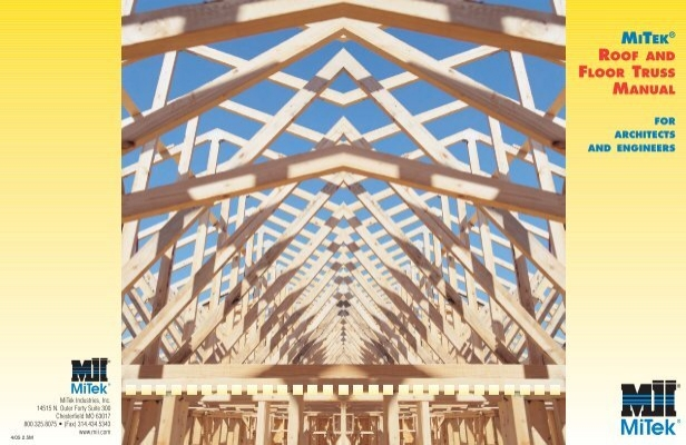 Mitek Roof And Floor Truss Manual Concord Truss Company