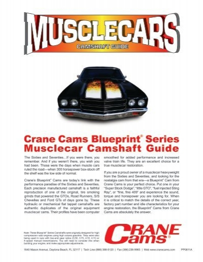 Crane cams blueprint series musclecar camshaft guide malvernweather Image collections