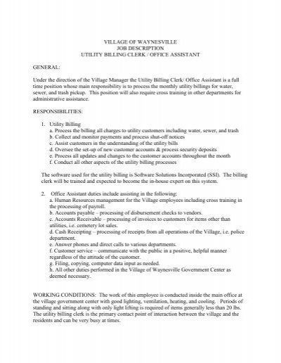 Clerk TypistSecondary Updated Job Description