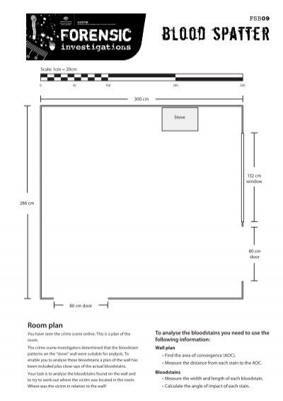 Blood Spatter Worksheet: fsb 09 blood spatter worksheets pdf file 2632 kb,