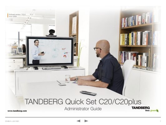 tandberg quick set c20 c20plus videoconferencia rh yumpu com Tandberg C20 Manual tandberg c20 administrator guide