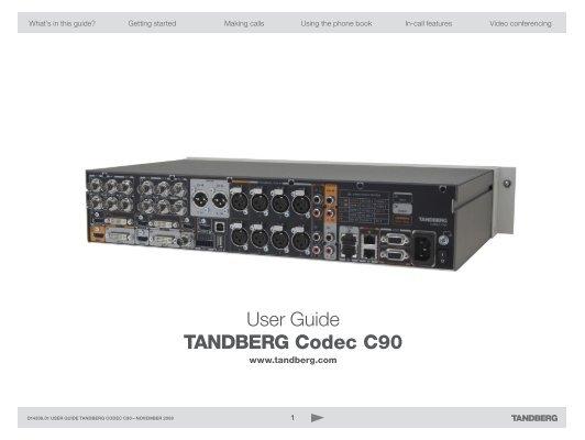 tandberg e20 user manual