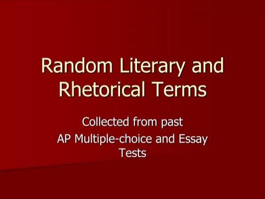 ap rhetorical terms
