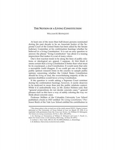 living constitution In this essay, i sketch a brief, stylized narrative explaining how this dynamic has played out in american constitutional theory over the past five decades although i believe this narrative to be basically accurate, my purpose is not to do rigorous intellectual history rather, it is to explore some of the ways that external political.