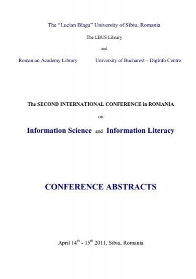 Information Science - Biblioteca Universitatii