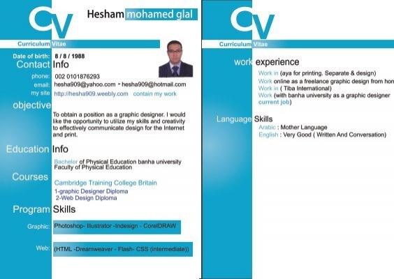 CV Curriculum Vitae work