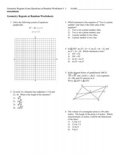 geometry regents at random worksheets jmap
